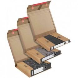 COLOMPAC Lot de 20 Carton d'expédition pour classeur A4 dos de 35 à 80mm Marron