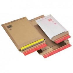 COLOMPAC Lot de 20 pochette d'expédition carton ondulé marron 34x50 x 5cm  A3