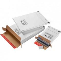 COLOMPAC Lot de 20 Cartons d'expédition Poste L)139 x (P)216 x (H)29 mm Blanc