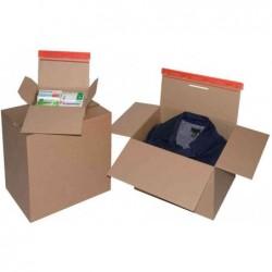 COLOMPAC Pqt de 10 cartons fond automatique fermeture Adhésive A5+ 23 x 12,5 x 16 cm