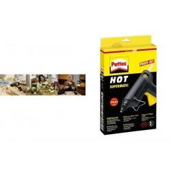 PATTEX Pistolet à colle HOT SUPERMATIC, noir/jaune