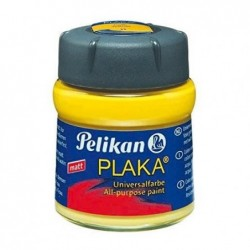 PELIKAN Flacon verre 50 ml peinture base Eau PLAKA Citron N° 10