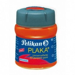 PELIKAN Flacon verre 50 ml peinture base Eau PLAKA Orange N° 15