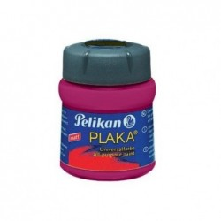 PELIKAN Flacon verre 50 ml peinture base Eau PLAKA Rouge-Violet N° 32