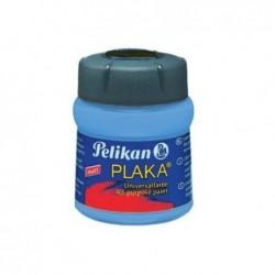 PELIKAN Flacon verre 50 ml peinture base Eau PLAKA Bleu Clair N° 37