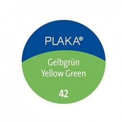 PELIKAN Flacon verre 50 ml peinture base Eau PLAKA Vert Jaune N° 42