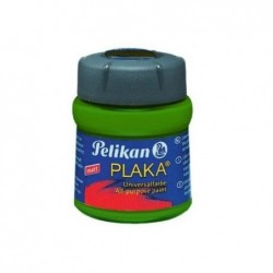 PELIKAN Flacon verre 50 ml peinture base Eau PLAKA Vert Moyen N° 43