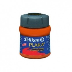 PELIKAN Flacon verre 50 ml peinture base Eau PLAKA Rouge Lumineux N° 23