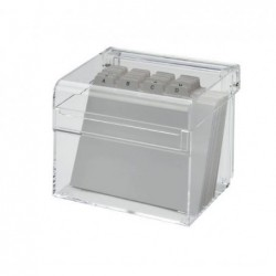 MAUL Boîte à fiches Acrylique A7 avec intercalaire Transparent