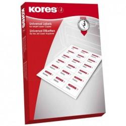KORES Etiquettes universelles 105 x 35 mm blanc 1600 sur 100F