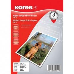 KORES Papier photo Jet d'encre Mat A4 180 g 50 feuilles