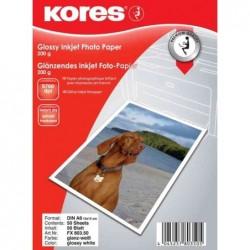 KORES Papier photo Jet d'encre Brillant 10 x 15 cm 200 g 50 feuilles
