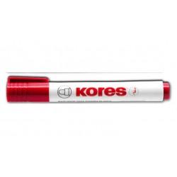 KORES Marqueur pour tableau blanc Pte ogive 3mm Rouge