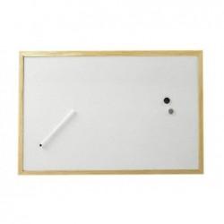 MAUL Tableau blanc cadre bois 30 x 40 cm Blanc
