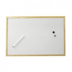 MAUL Tableau blanc cadre bois 60 x 90 cm Blanc