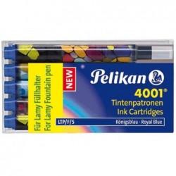 PELIKAN étui de 5 cartouches d'encre pour stylo LAMY, bleu royal