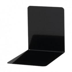 MAUL Lot de 2 Serre-livres métallique large 14 x 12 x 14 cm magnétique Noir