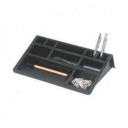 HELIT Organiseur Plumier de bureau 12 cases L 307 mm Noir