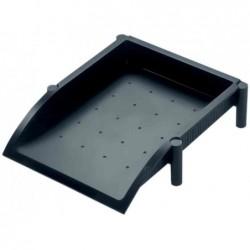 HELIT Corbeille à courrier Linear A4/C4 éléments intégré pour empilage Noir