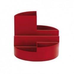 MAUL Organisateur de bureau rundbox 6 compartiments Rouge
