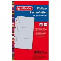 HERLITZ paquet de 10 pochettes perforées pour cartes de visite, 110 x 210 mm