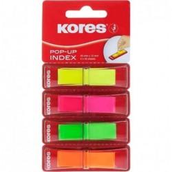 KORES Index marque-pages POP-UP, 45 x 12 mm 4x40 Assortis