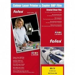 FOLEX Bte de 50 Films FOLEX Couleur laser BG 72 A4 Transparent