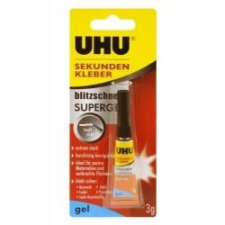 UHU Colle instantanée blitzschnelle SUPERGEL, 3 g