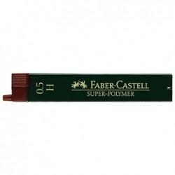 FABER-CASTELL Boîte de 12 mines Super Polymère 9065 S 0,5 mm H