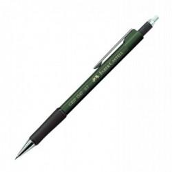 FABER-CASTELL Porte-mines GRIP 1347 Diam 0,7 mm avec gomme extra longue Vert métallique