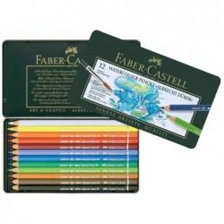"""FABER-CASTELL Etui Métal de 12 Crayons Couleur Aquarellables """"ALBRECHT DÜRER"""" Assortis"""