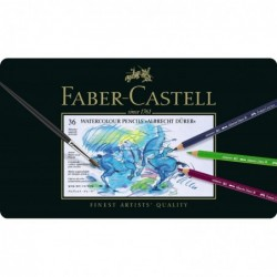 FABER-CASTELL Boite métal de 36 crayons de couleur aquarellables ALBRECHT DÜRER