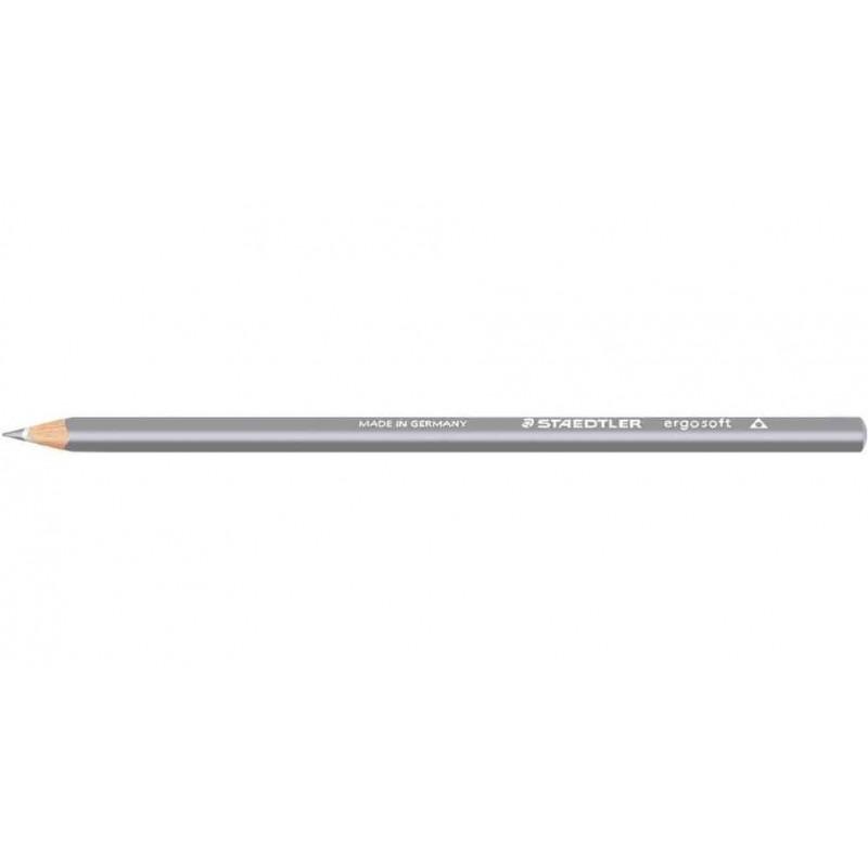 STAEDTLER Crayon de couleur ERGOSOFT Triangulaire Mine 3 mm Coloris Gris clair