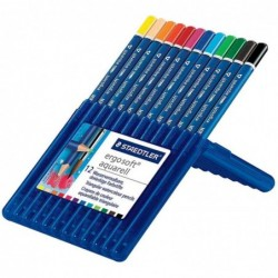 STAEDTLER boite de 12 crayons aquarellable Ergosoft aquarell