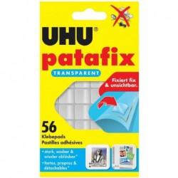 UHU Etui de 56 pastilles adhésives Patafix détachable Transparent