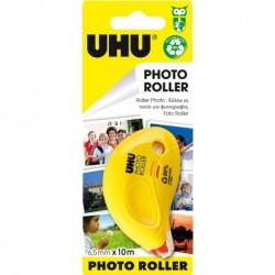 UHU Roller colle photo roller, 6,5 mm x 10 m pour photos, rapide, propre et durable