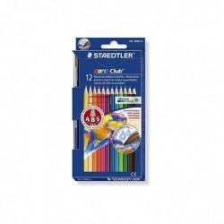 STAEDTLER Etui de 12 Crayons aquarelle Noris Club Assortis