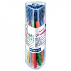 STAEDTLER Box de 12 Feutres de coloriage Triplus color 1 mm