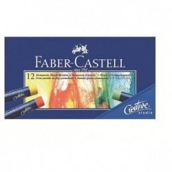 FABER-CASTELL étui de 12 pastels à l'huile STUDIO QUALITY Couleurs brillantes