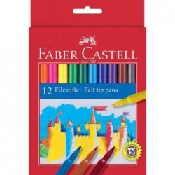 FABER-CASTELL étui carton de 12 stylos feutre