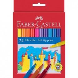 FABER-CASTELL Etui carton de 24 stylos feutre