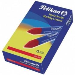 PELIKAN 12 x Crayons à marquer 762, rouge, diamètre: 13,5 mm