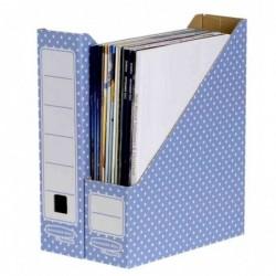 FELLOWES BANKERS BOX STYLE Lot de 10 Porte-revues A4 Dos de 8 cm Bleu/Blanc