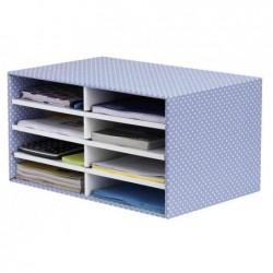 FELLOWES Trieur de bureau BANKERS BOX STYLE 8 Compartiments Empilable bleu/blanc