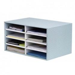 BANKERS BOX STYLE Trieur Carton 100% recyclé empilable 8 compartiments Vert/blanc