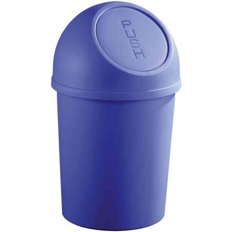 HELIT Poubelle à clapet Push 6 litres Diam 21cm H37,5 cm Bleu