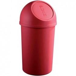 HELIT Poubelle à clapet PP 45 litres Ronde Diam 40 cm H 70 cm Rouge