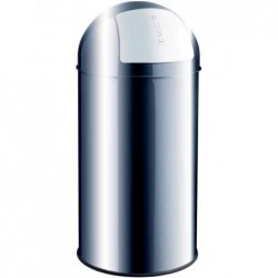 HELIT Poubelle avec clapet, 50 litres Argent