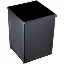 HELIT Corbeille papier, 20 litres, PP, quadratique, noir