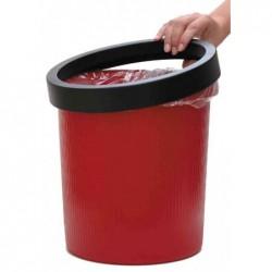 HELIT Anneau pour corbeille à papier 18 litres de Diam Env 31-32 cm Noir